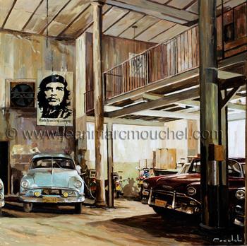 Garage à la Havane - Jean-Marc Mouchel - cub0112