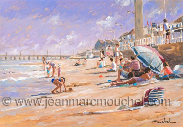 Sur la plage ensoleillée Luc sur mer - Jean-Marc Mouchel - bdm0174 (Nouveauté 2019)