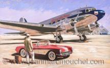 DC3 sur le Tarmac - Jean-Marc Mouchel - cdv0172 (Nouveauté 2019)